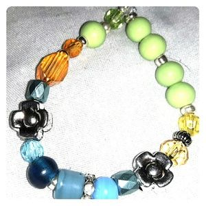 Glass Beaded Stretchy Bracelet